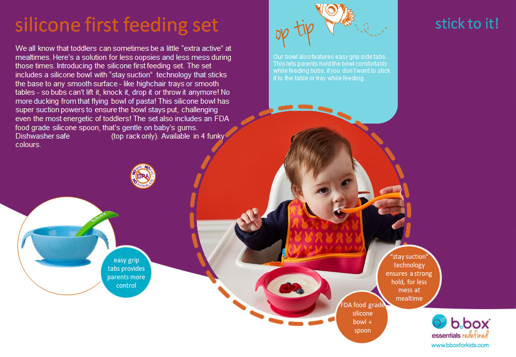 b.box Silicone First Feeding Set