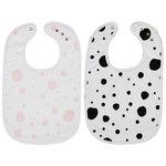 Meyco Slab Dots Roze/Dots Zwart - Set van 2