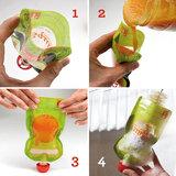Squiz 3-pack herbruikbare knijpzakjes Sophie de Giraf 90 ml