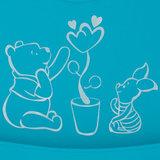 Silicone Slabber Blauw met Winnie en Knorretje