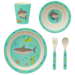 Sass & Belle Shelby the Shark Bamboe Dinerset