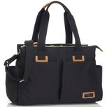 Storksak Travel Shoulder Bag Black Luiertas