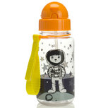 Zip & Zoe Drinking Bottle with Straw Spaceman