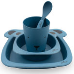 Jollein Dinerset Bamboe Animal Club Steel Blue