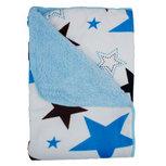 Baby Deken Wit en Blauw met sterren 75 x 100 cm