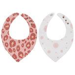 Meyco Bandana Panter/Dots Roze - Set van 2