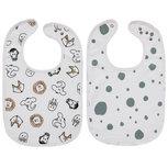 Meyco Slab Dots Animal/Dots Stone Green - Set van 2