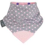Cheeky Chompers Bib Polka Dot Pink Neckerchew