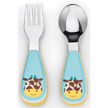 Skip Hop Zootensils Vork en Lepel Set Giraffe