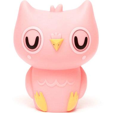 Petit Monkey nachtlampje uil peach pink