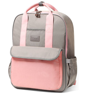 Babyono London Look Pink-Grey Verzorgingsrugzak