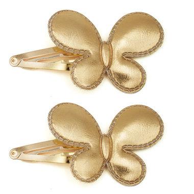 Haarspeldjes Gouden Vlinders (2 stuks)