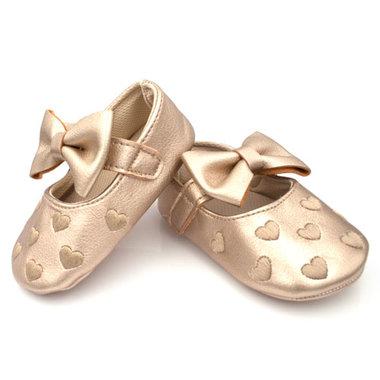 Baby Ballerina's Goud Met Hartjes
