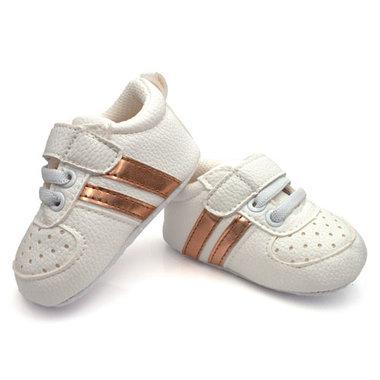 Baby Boy Sneakers Wit met Gouden Strepen