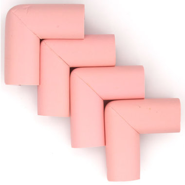 Hoekbeschermers L-vorm Roze (4 stuks)