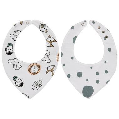 Meyco Bandana Dots Animal/Dots Stone Green - Set van  2