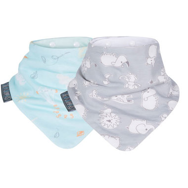 Cheeky Chompers Grey & Mint Neckerbibs - Set van 2