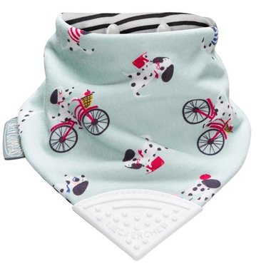 Cheeky Chompers Bib Parisian Pups Neckerchew