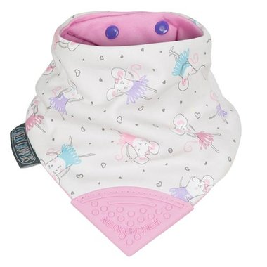Cheeky Chompers Bib Ballerina Mice Neckerchew