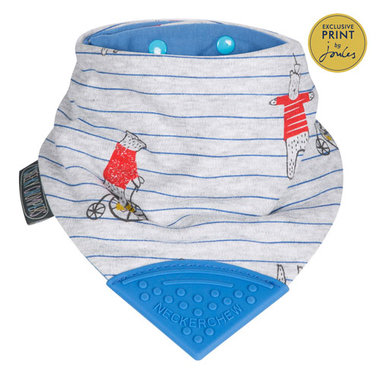 Cheeky Chompers Bib Balancing Bears by Joules Neckerchew