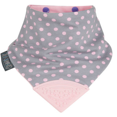 Cheeky Chompers Bib Polka Dot Pink Neckerchew