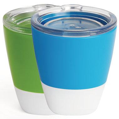 Munchkin Splash Cups and Trainer Lids Groen/Blauw - 2 Stuks