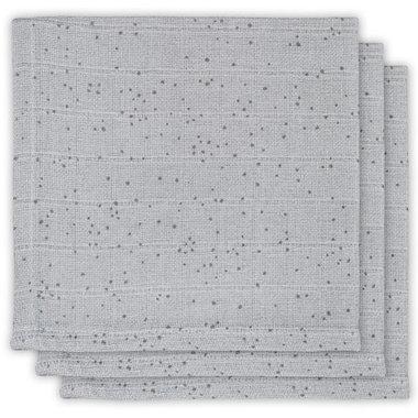 Jollein Hydrofiel Monddoekje Mini dots mist grey (3pack)