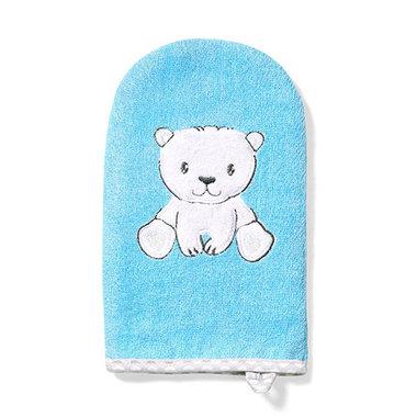 cae640916f0 Babyono Bamboo Blue Polar Bear Wash Mitt
