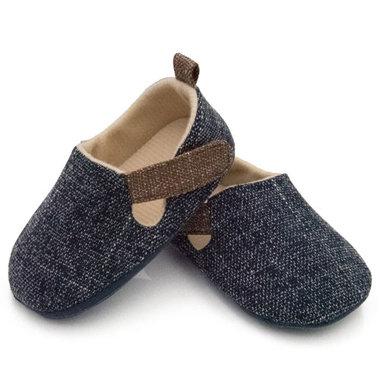 Baby instappers blauw met klittenband sluiting
