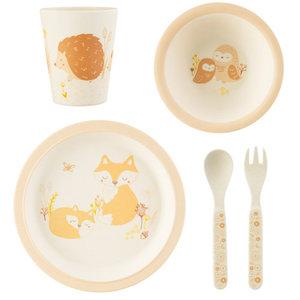 Sass & Belle Woodland Baby Bamboe Dinerset