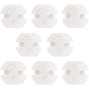 Draaistopcontact wit (8 stuks)