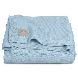 Baby Deken Jollein.Jollein Blanket 75x100cm Soft Knit Soft Blue